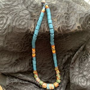 Eclectic Clay Bead Necklace